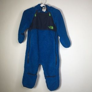 The North Face 6-12M Blue Plushee Fleece Bunting